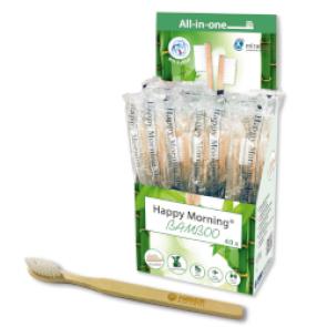 Cepillos desechables de bambú con Xilitol