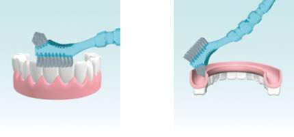 Cepillo de limpieza para prótesis