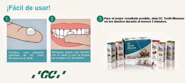 Cómo aplicar GC Tooth Mousse