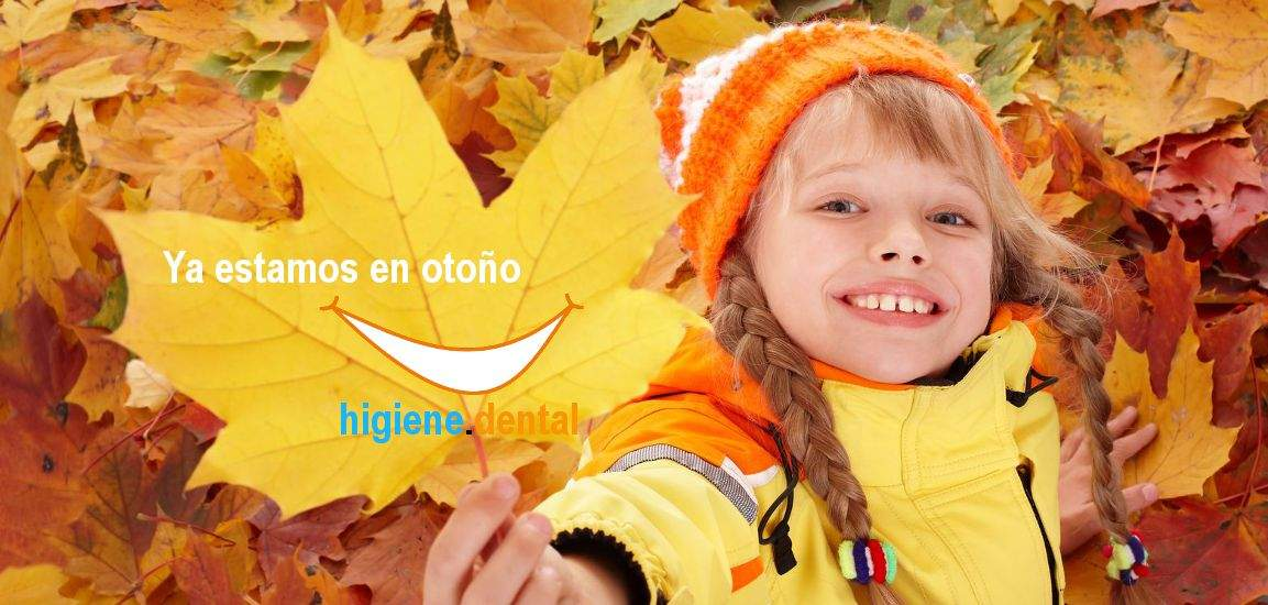 Sonrisa de otoño en higiene.dental