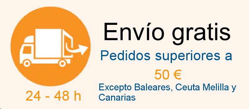 Portes gratis pedidos superiores a 50 €